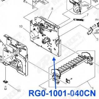 RG0-1001 / RG0-1001-040CN Правая пластина (с редуктором и мотором) в сборе HP LJ 1200/ 1005/ 1220/  3300/ 3310/ 3320/ 3330, Canon LBP-1210 (включает в себя RA0-1005 / RC1-1753 / FU5-0703)