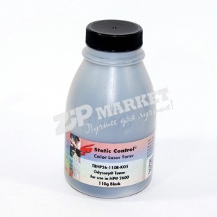 TRHP26-110B-KOS Тонер - банка HP CLJ 2600 / Canon LBP-5000 / 5100 Black Static Control (SCC) 110г