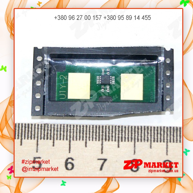 U1-2CHIP-Y Чип  картриджа HP универсальный Yellow Static Control (SCC)  фото 1