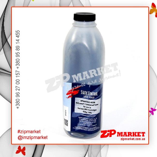 HPUNIVOS2-450B Тонер - банка HP LJ 4000 / 4050 / 4100 / 2100 / 2200 Black Static Control 450г фото 1