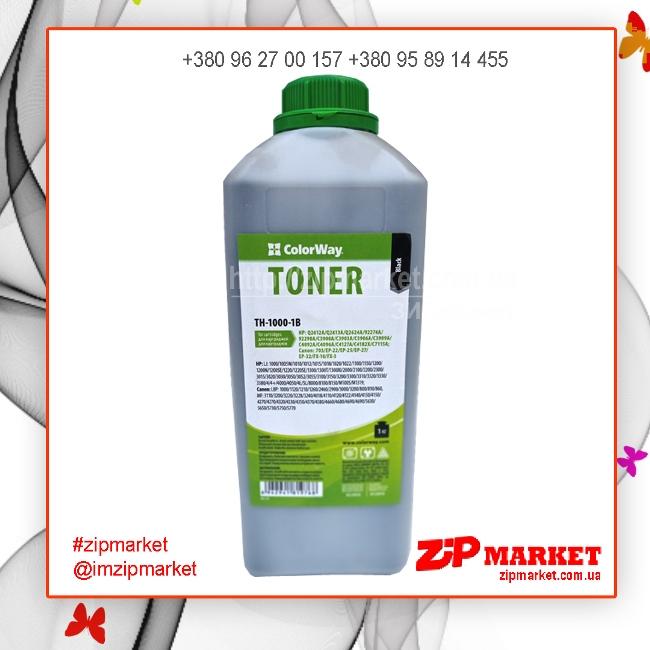 Тонер HP LJ 1000 / 1010 / 1200 / 2100 / AX 1кг. канистра Colorway 48486 TH-1000-1B  фото 1
