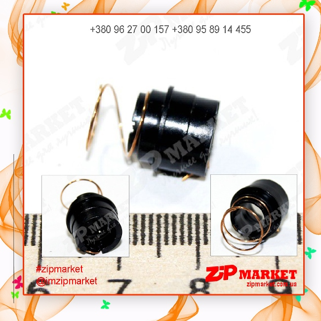 Втулка контактная (вставка) на магнитный вал с пружиной HP LJ 1010/1012/1015/3015/3020/3030 Static Control (SCC) HP1012MRCON фото 1